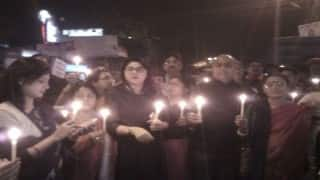Candlelight march for soldiers killed in Pathankot attack