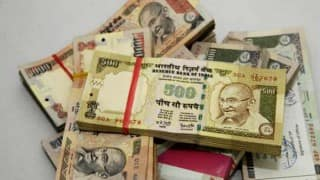Rupee down 22 paise against dollar in early trade