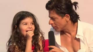 Super cute! Shah Rukh Khan chats with a cute little girl (Watch video!)