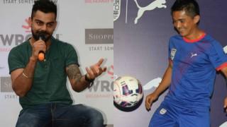 That extra-time winner from Sunil Chhetri was mind blowing, says Virat Kohli on Twitter
