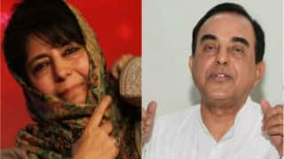 Subramaniam Swami fuels discord in Kashmir, says it is not necessary Mehbooba Mufti becomes next Chief Minister of J&K