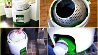 This brilliant washing machine works without electricity! Incredible, isn't it?