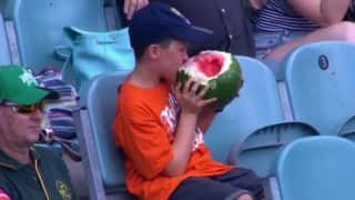 10-year-old boy who ate a whole watermelon at cricket stadium becomes internet hero of 2016!