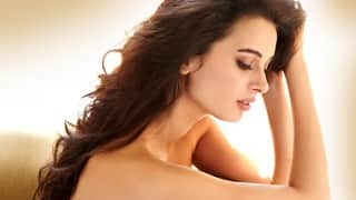 Who captured Evelyn Sharma in the nude?