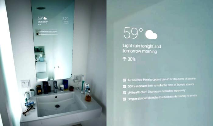 Now Google S Android Smart Mirror To Replace Your Boring