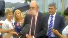 New Zealand politician gets hit in the face by pink dildo! And you though ink and chappals were bad