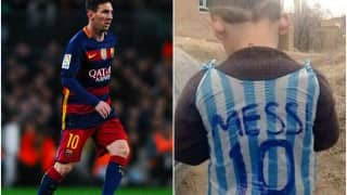 Lionel Messi intends to meet 5-year-old Afghani fan with plastic jersey