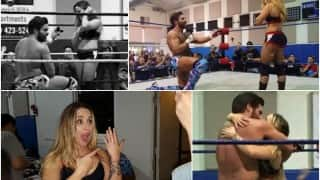 Aww! Joey Ryan proposes to girlfriend Laura James in the middle of their Pro Wrestling match (Watch video)