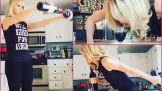Wine workout! 24-year-old health coach comes up with best workout routine ever (Watch video)