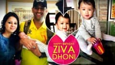 MS Dhoni and Sakshi Dhoni's daughter Ziva turns 1 today!