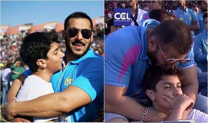Salman Khan Bonds With Nephew Nirvan At Celebrity Cricket League