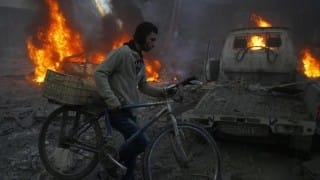 Airstrikes on rebel-held Syrian district kill 9 civilians