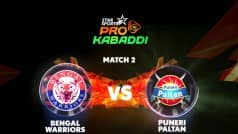 Pro Kabaddi League 2016 Free Live Streaming: Watch Bengal Warriors vs Puneri Paltan, Live Telecast on Star Sports, Hotstar and Starsports.com