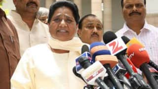 If Smriti Irani would chop her head off as I am not satisfied with her response, asks Mayawati