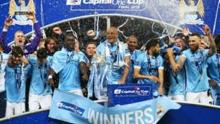Manchester City beat Liverpool on penalties to win Capital One Cup 2015-16