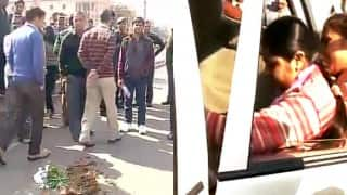 Woman throws flower-pot on Narendra Modi's convoy after being stopped from meeting him