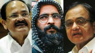 Government questions Chidambaram's 'sudden sympathy' for Afzal Guru