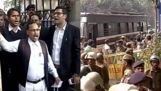 Scuffle breaks out between lawyers outside Patiala Court ahead of Kanhaiya Kumar hearing