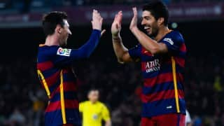 Luis Suarez, Lionel Messi hat-tricks hit Gary Neville's Valencia for seven