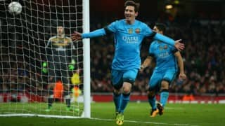 Lionel Messi brace gives Barcelona 2-0 lead against unfortunate Arsenal in 1st leg of UEFA Champions League Last 16