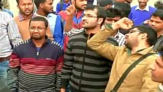 ABVP protest over Afzal Guru's commemoration in JNU; students seek freedom of expression