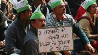 MCD's protest enters Day 10: Workers continue agitation in Delhi's Bhajanpura area