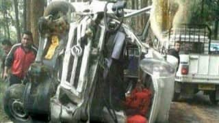 Woman killed, 3 policemen injured in accident