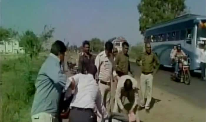 Ujjain: Police brutality caught on camera; cops thrash man after being called to investigate family dispute (Video)