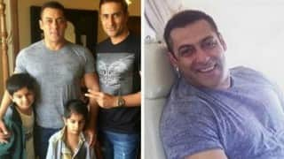 Salman Khan spotted with fans at Surat; cheered by crowd! (Pictures and video)