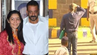 Sanjay Dutt dramatically walks out of Pune's Yerwada Central Jail with a salute (Video)
