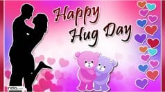 Happy Hug Day 2016 Wishes: Best Hug Day SMS, WhatsApp & Facebook Messages to send Happy Hug Day greetings!