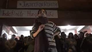 Umar Khalid reaches JNU, says they were jailed for opposing the government