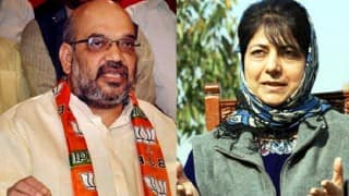 Amit Shah holds meeting with Jammu & Kashmir state BJP leaders to discuss government formation with PDP