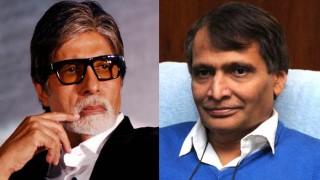 Amitabh Bachchan praises Railways Minister Suresh Prabhu for presenting Harivanshrai Bachchan's poem!