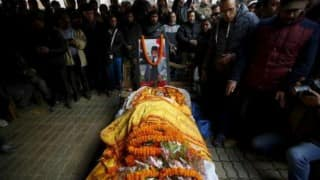 Funeral procession of Sushil Koirala begins in Kathmandu