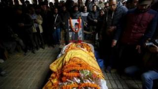 Funeral procession of Sushil Koirala begins in Kathmandu