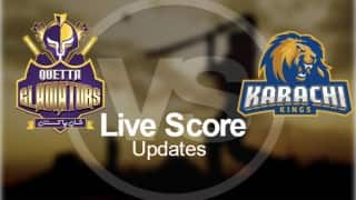 Gladiators won by 8 wkts | Pakistan Super League (PSL) T20 2016 Live Cricket Score Updates Quetta Gladiators vs Karachi Kings in 17.2 Overs
