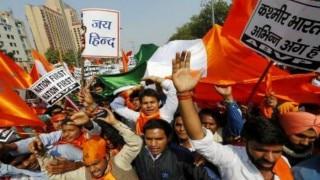 Left protest in Tripura against JNU student arrest