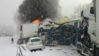 Police: US highway crash sent 73 to hospital