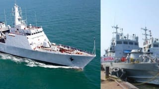 Two Indian warships call at Myanmar port