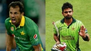 Wahab Riaz, Ahmed Shehzad cautioned by PCB for spat in PSL match