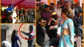 Waqf Vikas Board president Rao Sajjad & Congress MLA Kunwar Pranav Singh caught on camera dancing and showering currency notes at women! (Video)