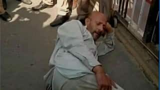 Legislator Engineer Rashid protests in Jammu against police excesses