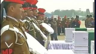 Tributes paid to Siachen bravehearts at Palam Airport
