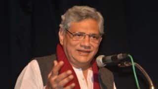 Hindu Sena activists arrested for manhandling Sitaram Yechury at press conference
