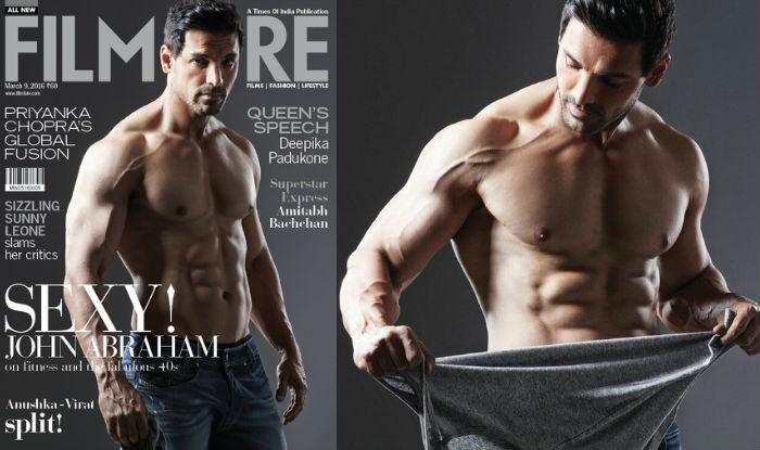 John Abraham Flaunts His Sexy Body For Filmfares Magazine Cover