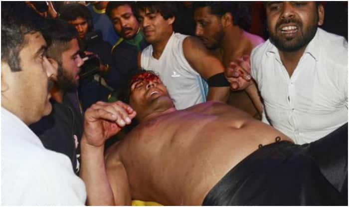 Indian wrestler wwe star the great khali suffers severe injury the great khali voltagebd Image collections