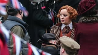 Wonder Woman on the set: Lucy Davis as Etta Candy is unrecognisable!
