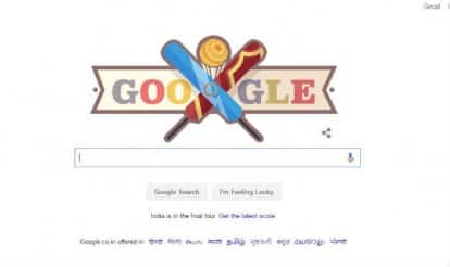 Google Doodle marks World T20 semi-final between India and West Indies!