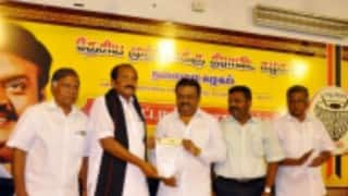 Tamil Nadu Assembly Elections 2016: Vijayakanth declared chief ministerial candidate of DMDK-PWF alliance; seat-sharing pact released